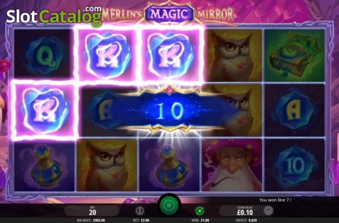 Win Screen 1. Merlin's Magic Mirror (Video Slot from iSoftBet)