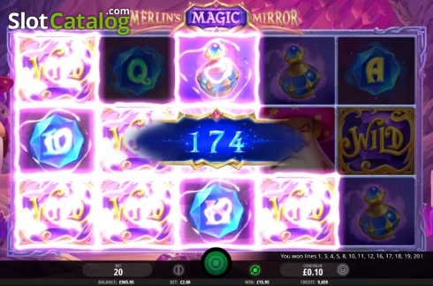 Win Screen 2. Merlin's Magic Mirror (Video Slot from iSoftBet)