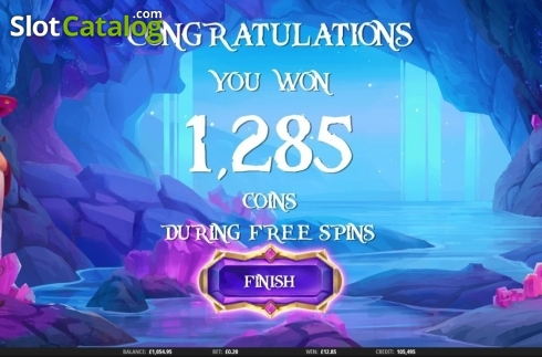 Total Win. Merlin's Magic Mirror (Video Slot from iSoftBet)