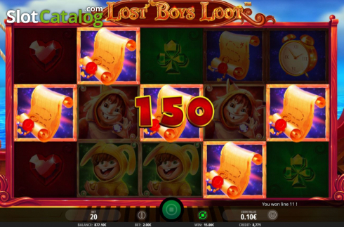 Win Screen 3. Lost Boys Loot (Video Slots from iSoftBet)