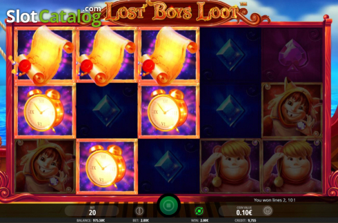 Win Screen 2. Lost Boys Loot (Video Slots from iSoftBet)