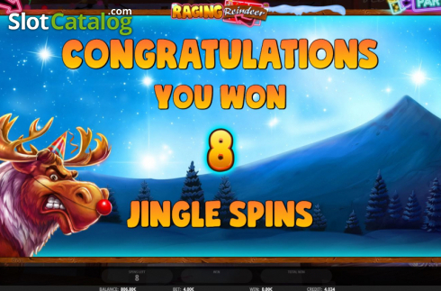 Free Spins 1. Raging Reindeer (Video Slot from iSoftBet)