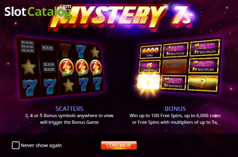 Screen 1. Mystery 7s (Video Slot from iSoftBet)