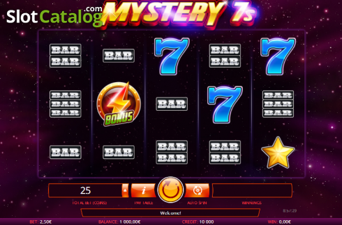 Screen 2. Mystery 7s (Video Slot from iSoftBet)