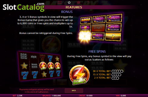 Paytable 2. Mystery 7s (Video Slot from iSoftBet)