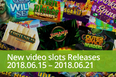 Start incredible adventure with the famous board game Jumanji in slots released during 15 — 21 June 2018