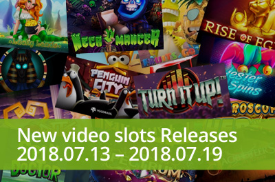 Visit a rock concert and spin some penguins with slots released during 13 — 19 July 2018