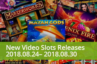 Mayan Gods, Egyptian pharaohs, mighty phoenix and famous artists appeared in slots that were launched during 24 — 30 August 2018