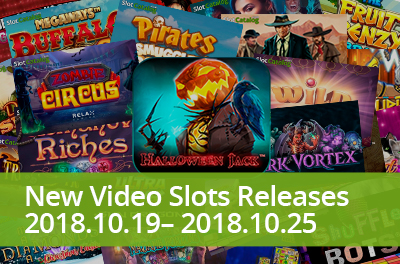 Experience Halloween spirit in slots that were released during 19 — 25 October 2018