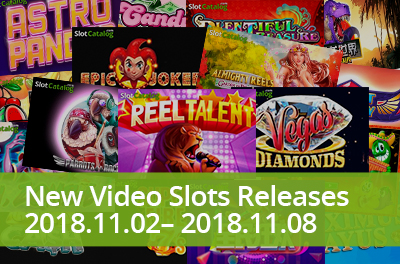 Unleash your talent and feel retro vibes with new slots that were released during 02 — 08 November 2018