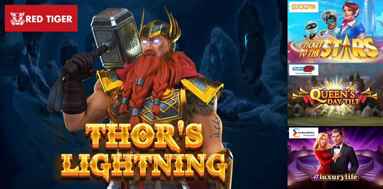 Join Thor in his adventures with slots that were released during 08 - 14 February 2019