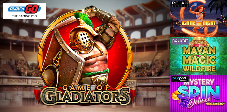 Examine your luck in an ancient colosseum with slots that were released during 31 May — 06 June 2019
