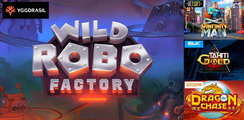 Visit futuristic robo factory with slots that were released during 7 — 13 June 2019