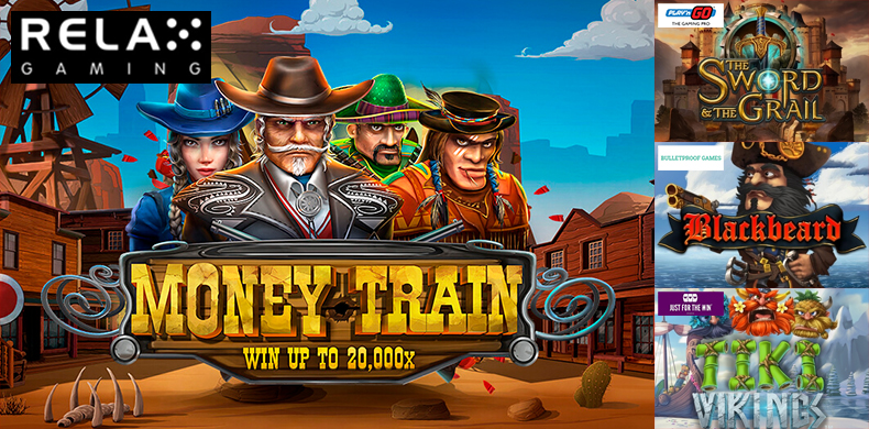 Plan a journey to the Wild West on money train with the slots that were released during 02 — 08 August 2019