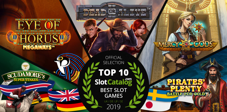 Top 10 Slots for Jan-Oct 2019