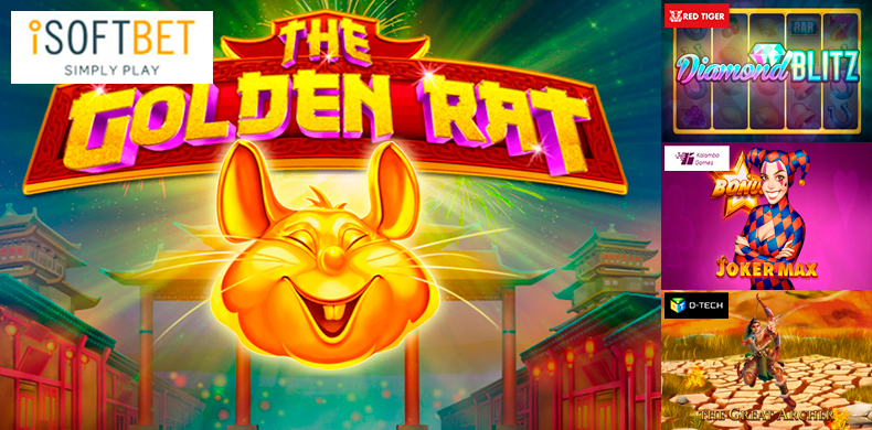 Get some wealth from a golden rat in slots that were released during 10 — 16 January 2020