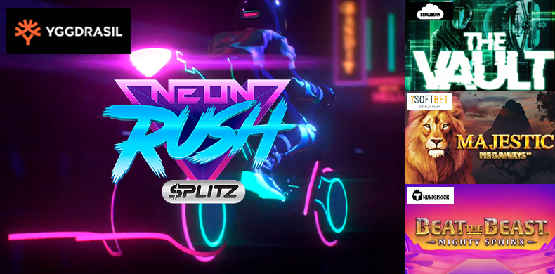 Ride a motorbike in a neon city with slots that were released during 27 March  — 02 April 2020